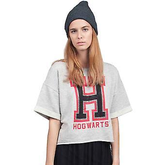 Harry Potter T shirt Hogwarts Alumni logo officielle dame overdimensionerede grå