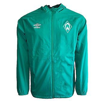 2019-2020 Werder Bremen Umbro Shower Jacket (Green)