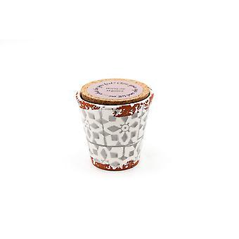 Eura Candle Eura ceramics 8,5x8cm Fig leaves