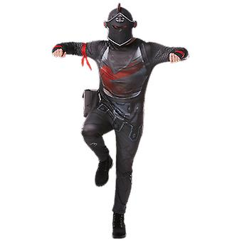 Boys Age 8 - 14 Years Black Knight Costume Teen Halloween Fancy dress