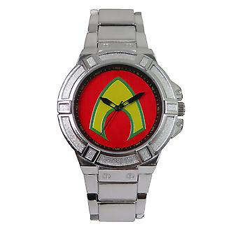 Aquaman Symbol Watch with Silver Band