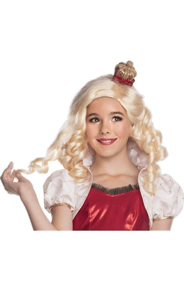 Girls Ever After High Apple White Wig Halloween Fancy Dress Costume Accessory