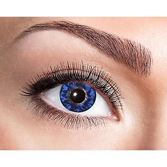 Natural contact lens black blue intense pattern