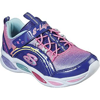 Skechers Girls Shimmer Beams Ombre Lighted Trainers Shoes