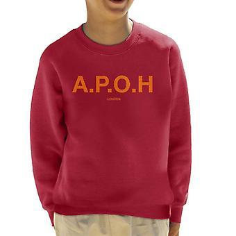 A. P. O. H klassisk orange logo kid ' s sweatshirt