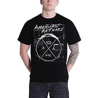 American Authors T Shirt Drums band logo new Official Mens Black