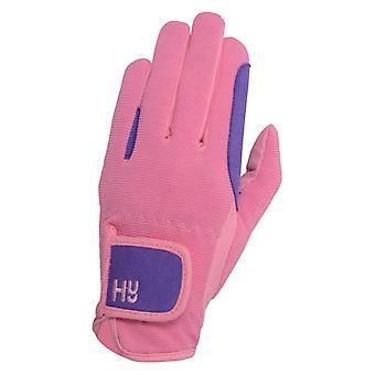 Hy5 Childrens/Kids Two Tone Riding Gloves