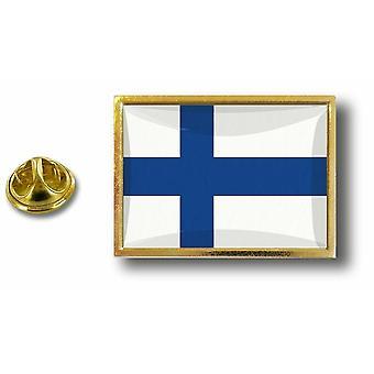 Kiefer PineS Abzeichen Pin-Apos;s Metall mit Schmetterling Pinch Flagge Finnland Finnen
