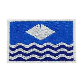 Patch patch Brode Thermocollant vlag Isle of Wight Engelse rugzak Isle of