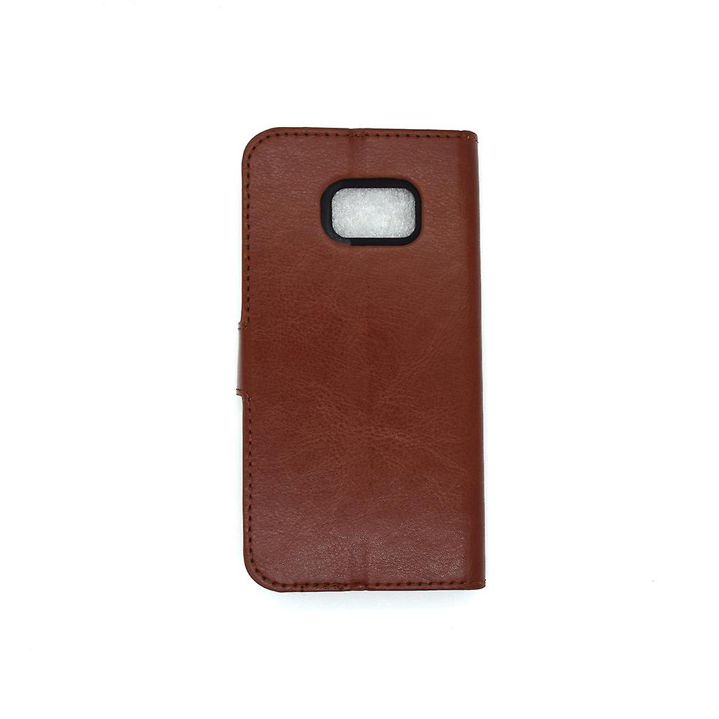 Galaxy S7 edge wallet case protection sky case brown