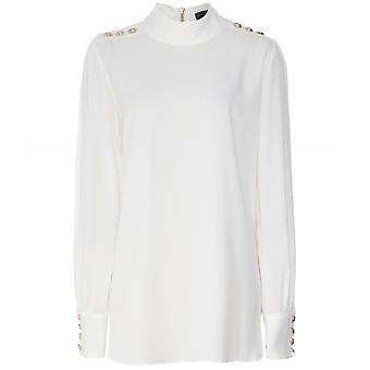 Holland Cooper Chiffon High Neck Shirt