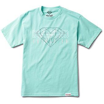 Diamond Supply Co College T-shirt Diamond Blue