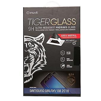 Filme para Samsung Galaxy A8 (2018) Proteção de tela vidro temperado incurvé com aplicador