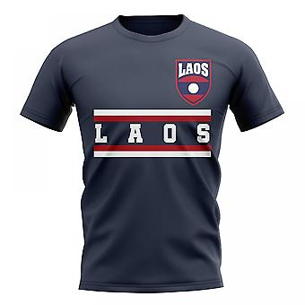 Laos Core Football Country T-Shirt (Navy)