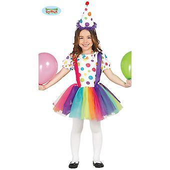 Clown - Kostüm für Mädchen