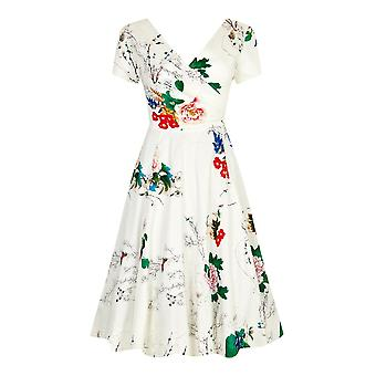 Collectif Vintage Women's Blossom Print Maria Swing Dress