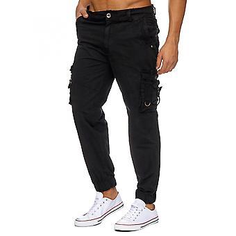 Mens Cargo bukser funksjonell bukse løs passer 100% bomull arbeider bukser Cargohose