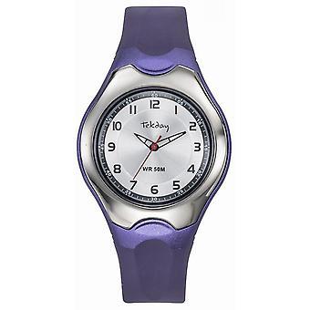 Tekday 654125 Children's Watch - Silicone Violet Bo Tier Bracelet