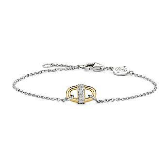 Ti Sento 2900ZY - Bracelet silver carabiner Bi bracelet colors Dor and bar e Pav