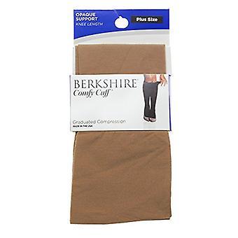 Berkshire Women's Plus-Size Comfy Cuff Plus Opaque Graduated Compression Trou...