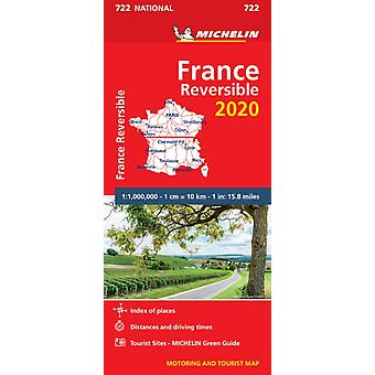France  reversible 2020  Michelin National Map 722