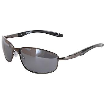Freedom Oval Wrap Sunglasses - Dark Gunmetal Grey