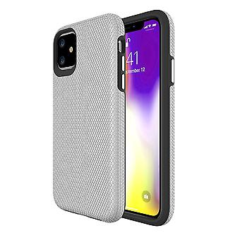 For iPhone 11 Case Armour Shockproof Strong Protective Light Slim Cover, Silver