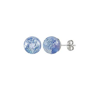 Ewige Sammlung Bellissimo Saphir Wunderkerze Murano-Glas Silber Ton Gestüt Ohrstecker