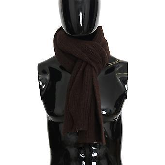 Dolce & Gabbana Brown Wool Woven Scarf