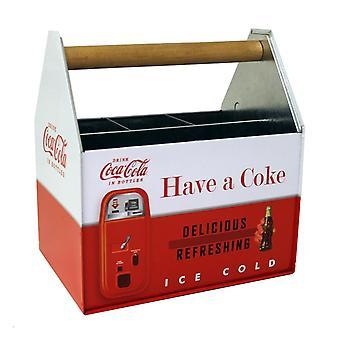 Porte-serviettes et ustensiles galvanisés au coke