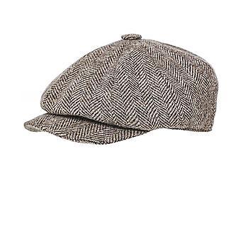 Holland Cooper Tweed Herringbone Baker Boy Cap