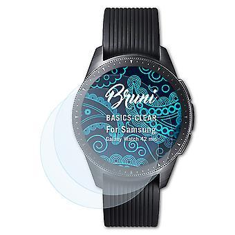 Bruni 2x Película Protectora compatible con Samsung Galaxy Watch 42 mm Lámina Protectora