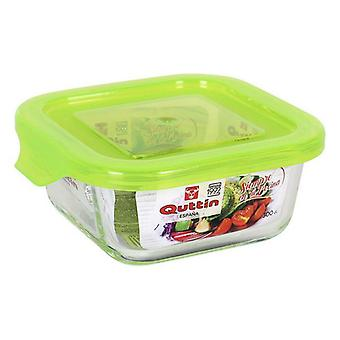Square Lunch Box with Lid Quttin/550 cc - 14 x 14 x 6,5 cm