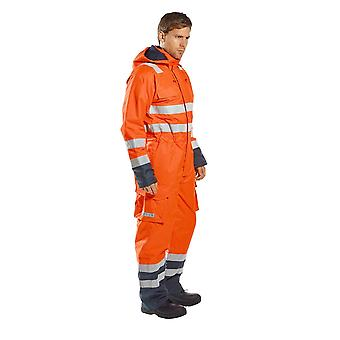 Portwest bizflame rain hi vis multi workwear safety coverall s775