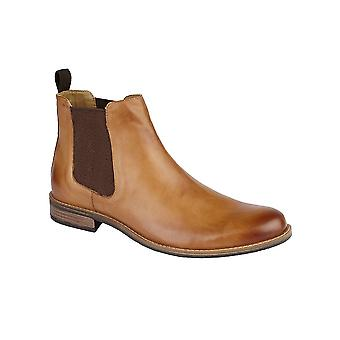 Roamers Tan Leather Gusset Boot Textile/pu Lining Pu Sock Tpr Sole