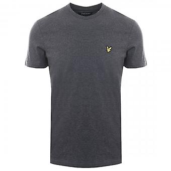 Lyle & Scott Plain Crew Neck T-Shirt Charcoal Marl TS400V