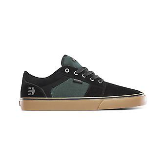 Etnies Barge LS Trainers in Black/Green/Gum
