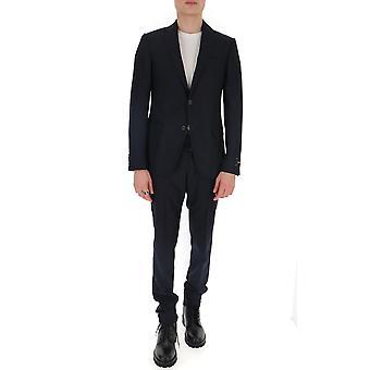 Z Zegna 722761281cga8r Men's Blue Wool Suit