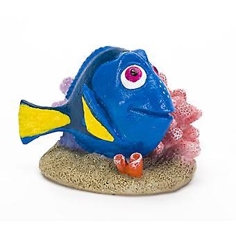 SanDimas Mini Dory med Coral (fisk, dekorasjon, ornamenter)