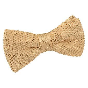 Mellow Yellow Knitted Pre-Tied Bow Tie for Boys