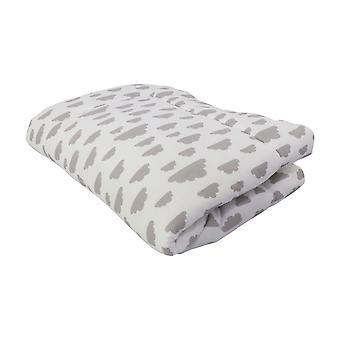 Scratch blanket Agnes, white, 140x100 cm