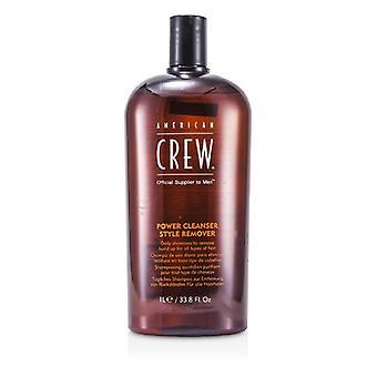 American Crew menn Power rens Style Remover Daily shampoo (for alle typer hår)-1000ml/33.8 oz