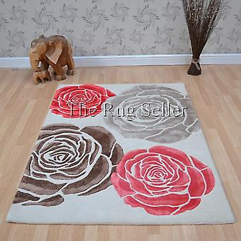 Chelsea Darcy Floral Wool Rugs In Cream