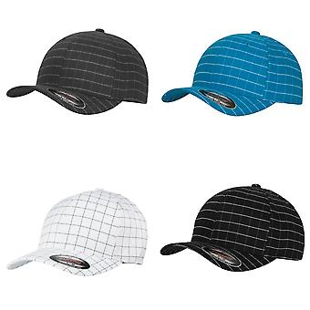 Yupoong Flexfit Unisex Square Check Baseball Cap (Pack of 2)