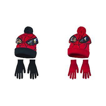 آعجوبة في نهاية المطاف الرجل العنكبوت أطفال الأولاد قناع الشتاء قبعة وقفازات