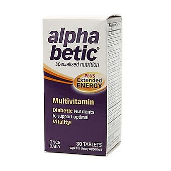 Alpha betic multivitamin plus extended energy, tablets, 30 ea