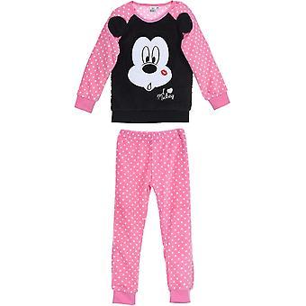 Holky HS2017 Disney Minnie myš dlhý rukáv fleece Pyjama sada