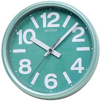 Rhythm 7890/6 Wall clock table clock Quartz analog green round quiet without ticking