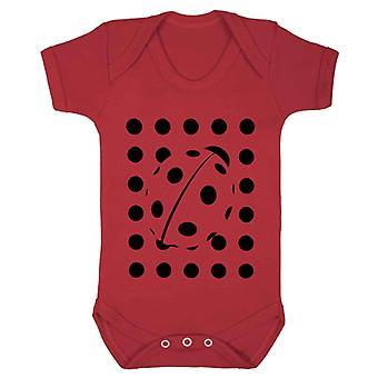 Reality glitch ladybird polka dot kids babygrow