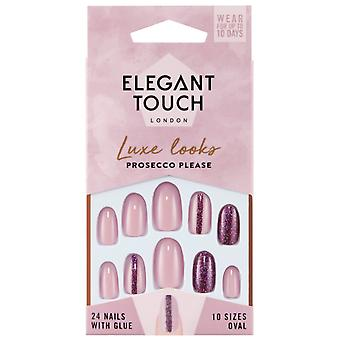 Elegant Touch Luxe Looks False Nails Collection - Prosecco Please (24 Nails With Glue)